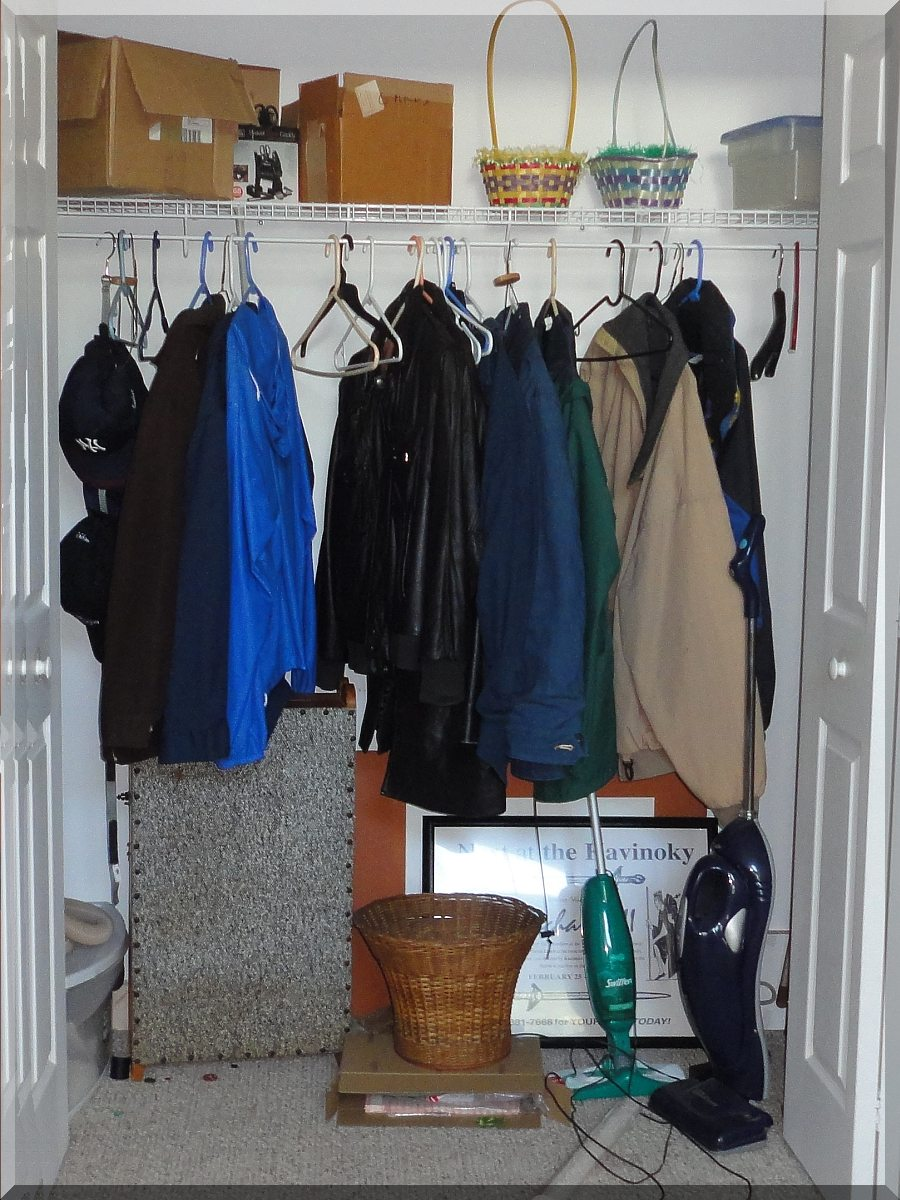Andrews Estate Service Household Liquidation Specialists Bedroom Clothes  Closet Cluttered ...