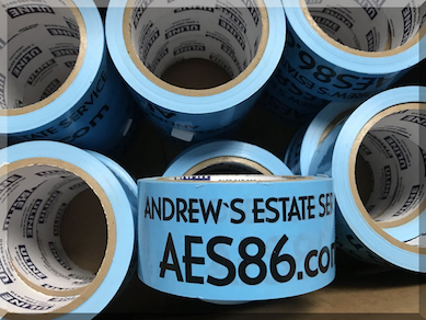 Andrews Estate Service AES86 Packaging Tape Blue
