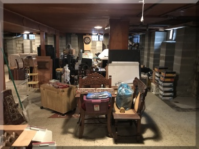 Andrews Estate Service Household Liquidation Specialists Basement Storage West Wall Cluttered